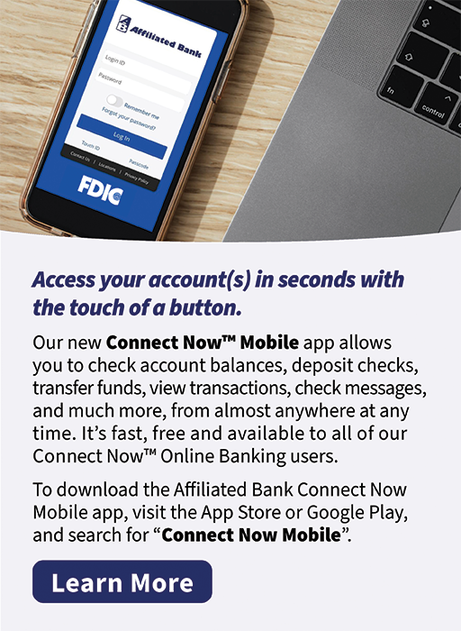 New Affiliated Bank Mobile Banking App: Connect Now Mobile